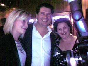 Victor Churchill owner, Anthony Puharich with Masterchef winner Julie Goodwin and Justine Schofield (picture Sandra Lee)